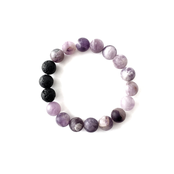 Amethyst Essential Oil Diffuser Bracelet 10mm
