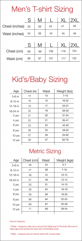 Father / Child Big & Little Dipper Size Guide