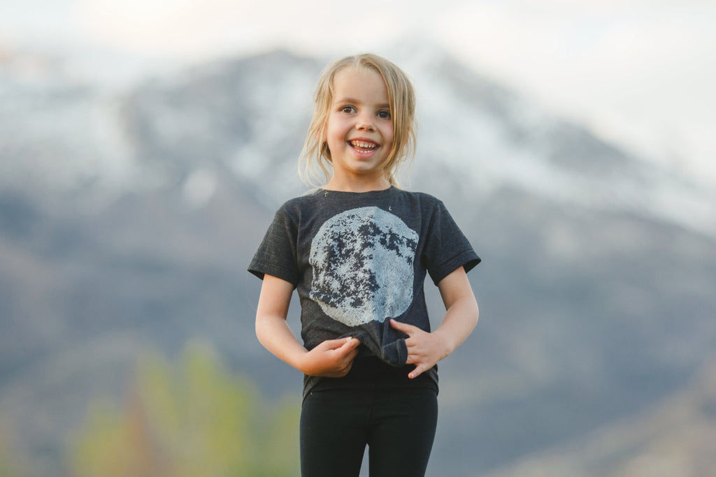 Kid's Moon Tee - Closeup
