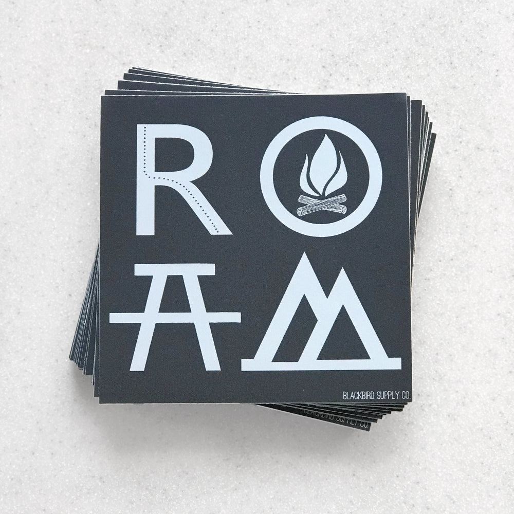 ROAM Bumper Sticker - Wanderlust Camping Travel Adventure Gift