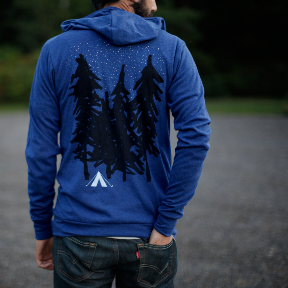 The Starry Night Lightweight Zip Hoodie.