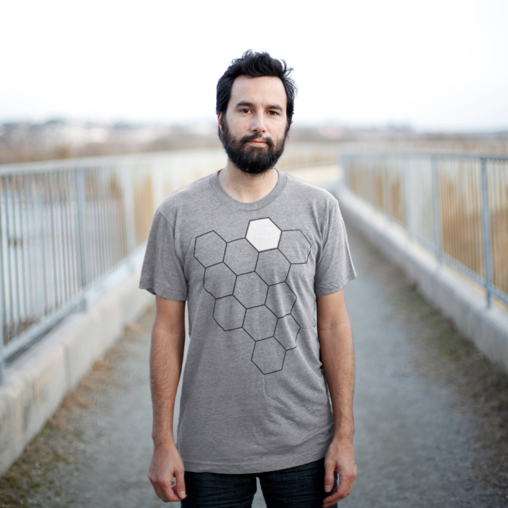 Mens Heather Gray Hive Tee