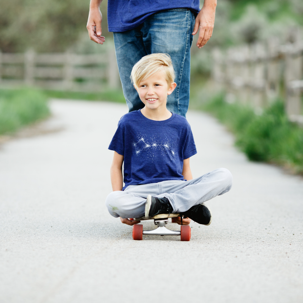 Kid's Little Dipper Graphic Tee - Indigo Blue