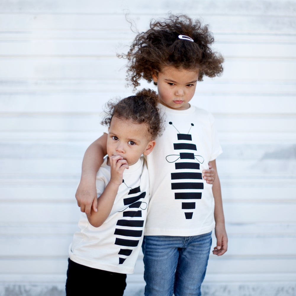 Kids Honey Bee One-Piece or T-Shirt - 100% Organic Cotton - Unisex