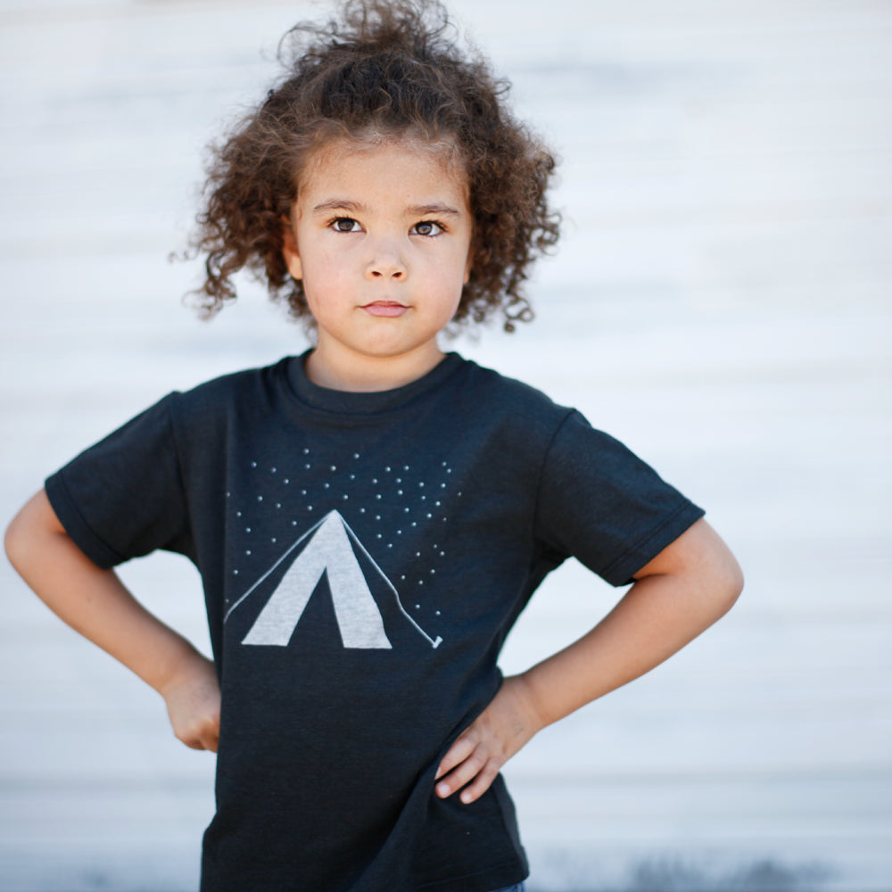 The camping tent tee for kids.
