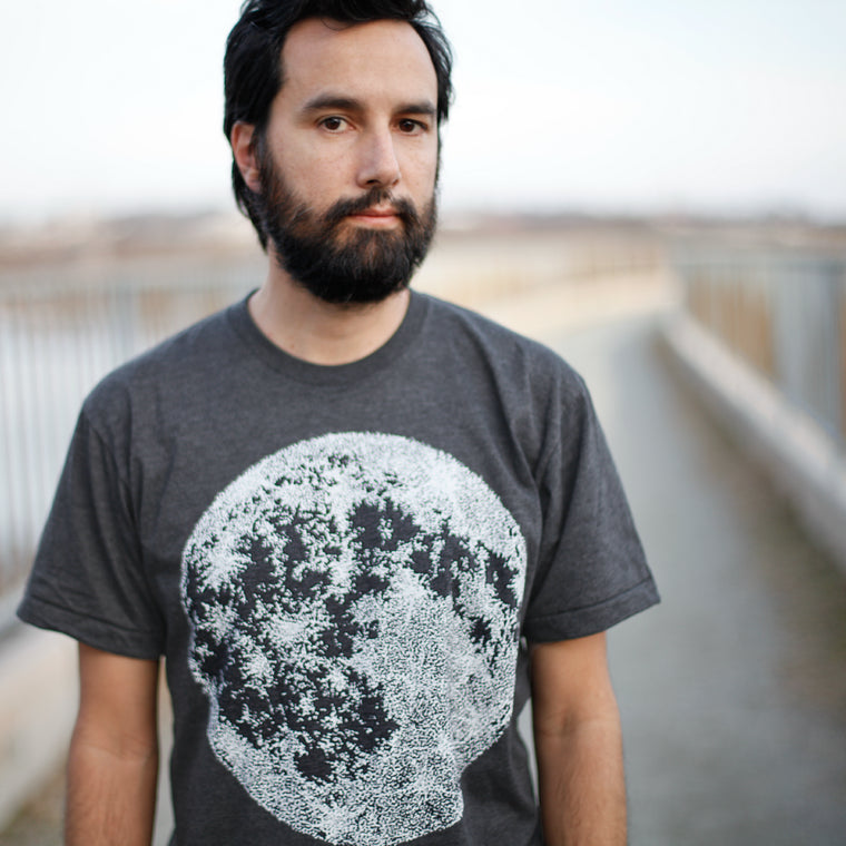 Men's Moon T-Shirt - Black