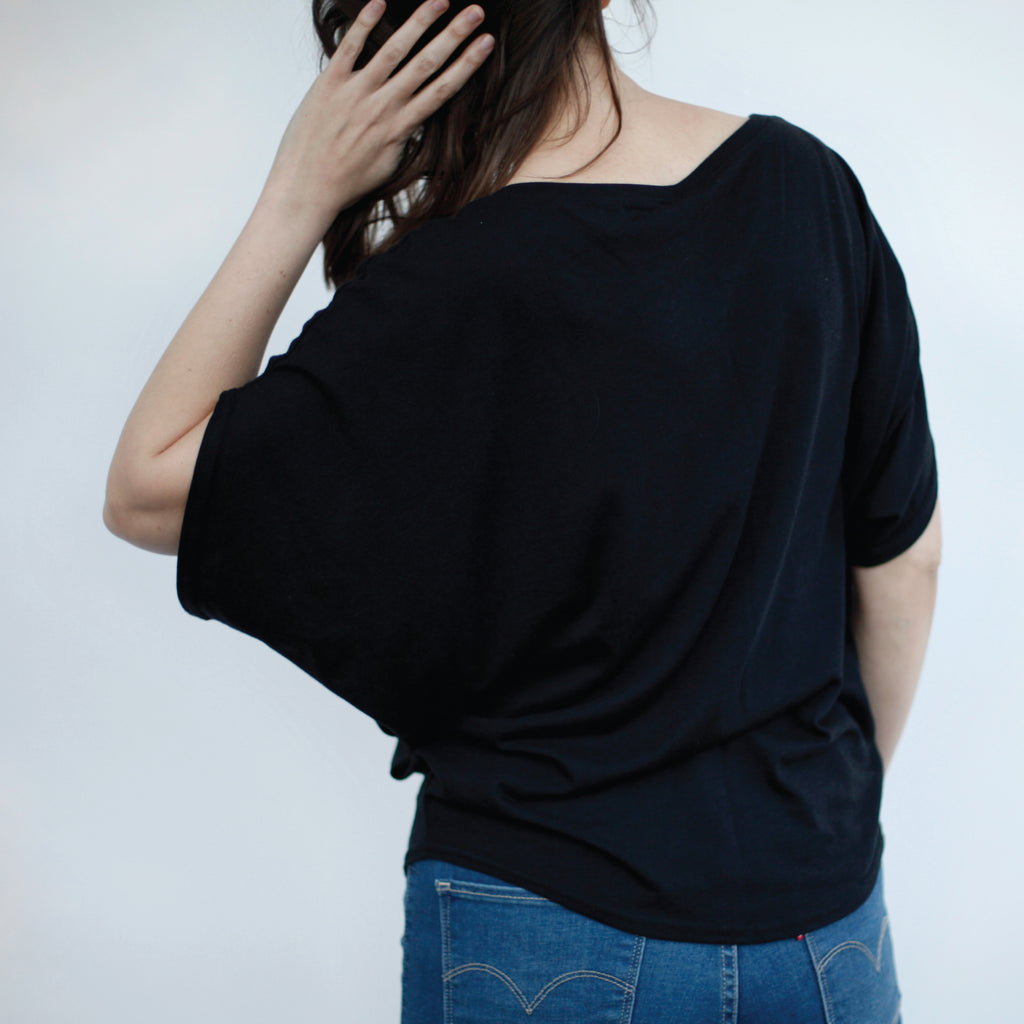 Moon Phase Eco Friendly Bamboo Organic Cotton Off The Shoulder Top