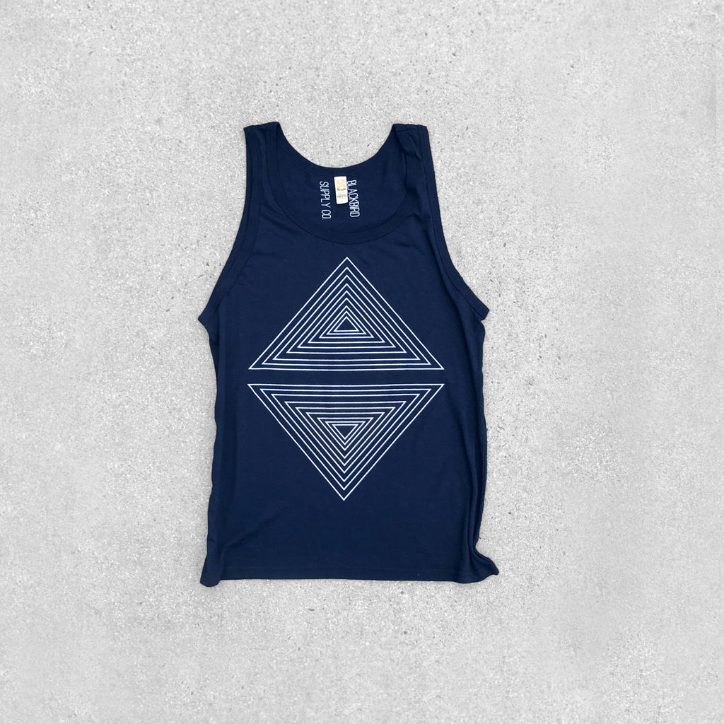 Rule of Thirds Unisex Bamboo Organic Cotton Tank Top Deep Navy Blue