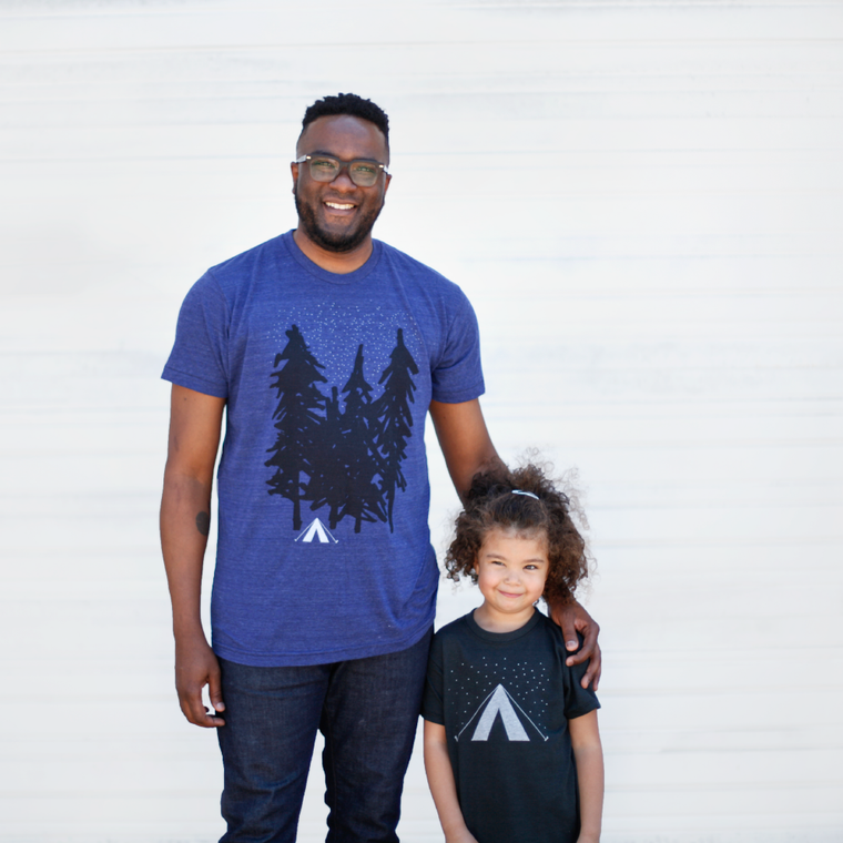 Father / Child Matching Starry Night T-Shirt Set.