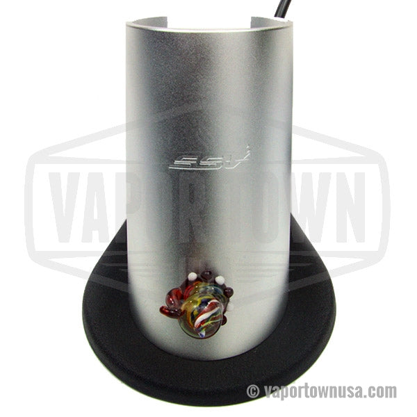 Silver Surfer Ground Glass Hands Free vaporizer in Silver