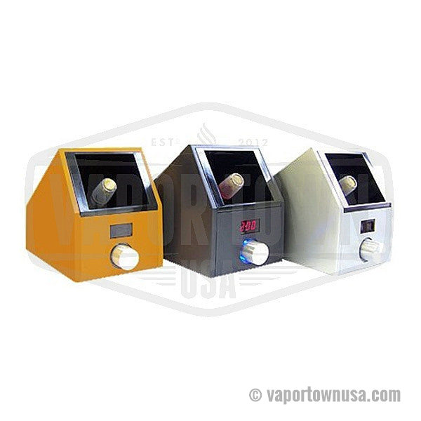 Easy Vape Digital Hands Free vaporizer in Yellow, Black and Silver