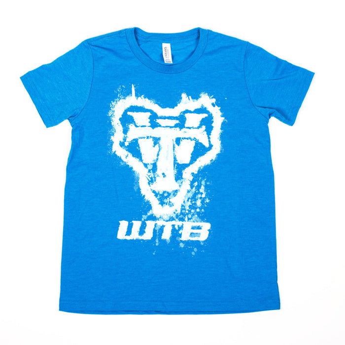 Youth Blue Splatter Tee