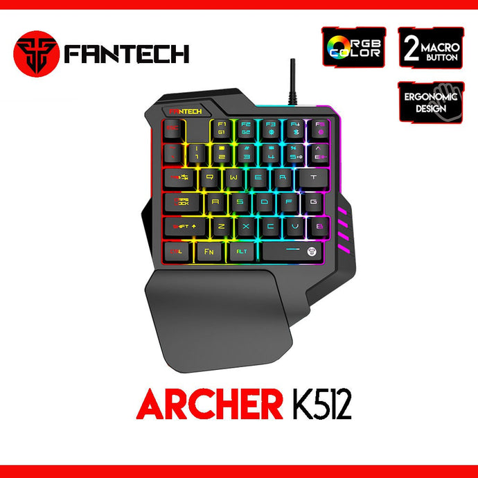 Keyboard Gaming FANTECH K 512 Archer One HAND RGB For PC/PS4