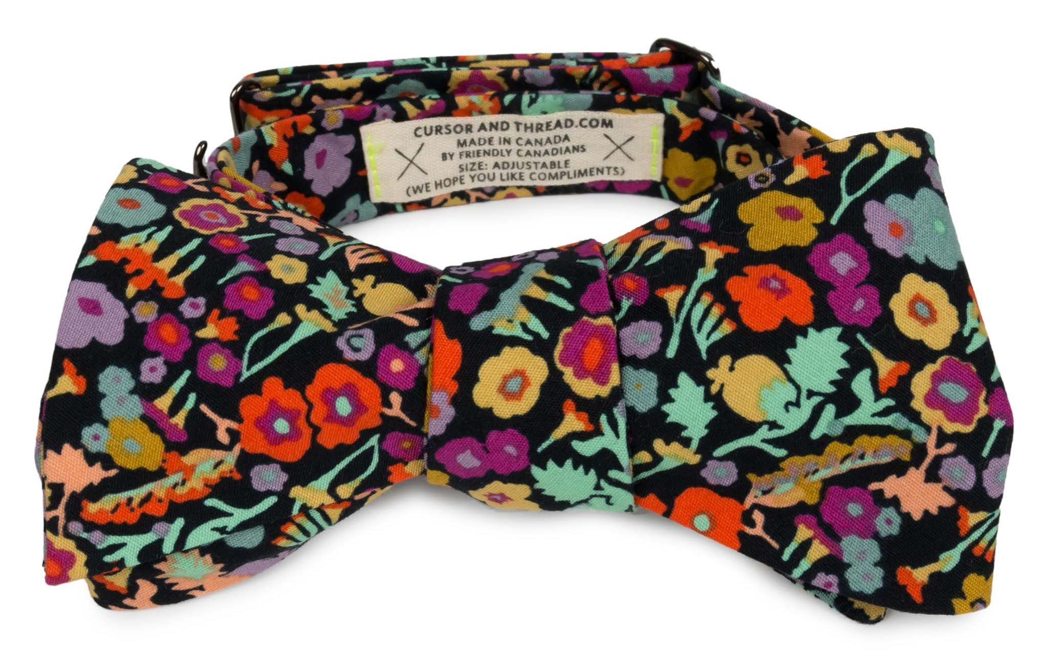 Dark Floral Bow Ties