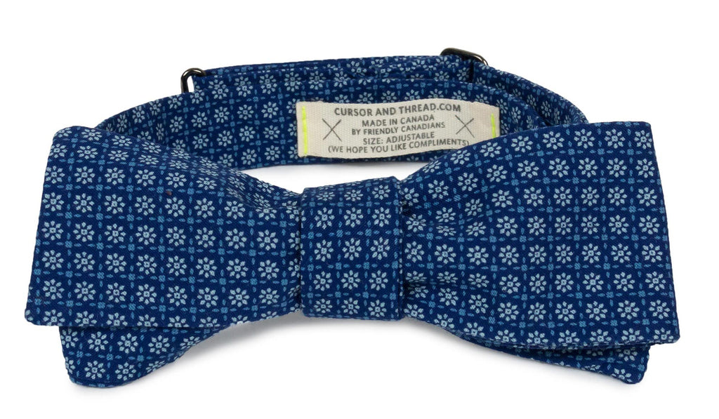 Daisy Floral Japanese Cotton Bow Tie