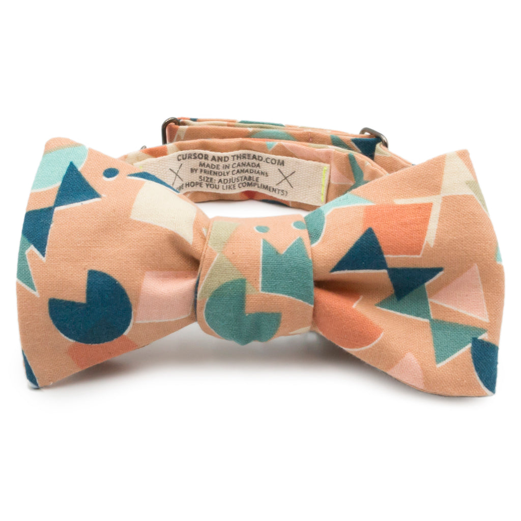 Abstract Shapes Japanese Cotton Bow Tie Made in Canada by Cursor & Thread