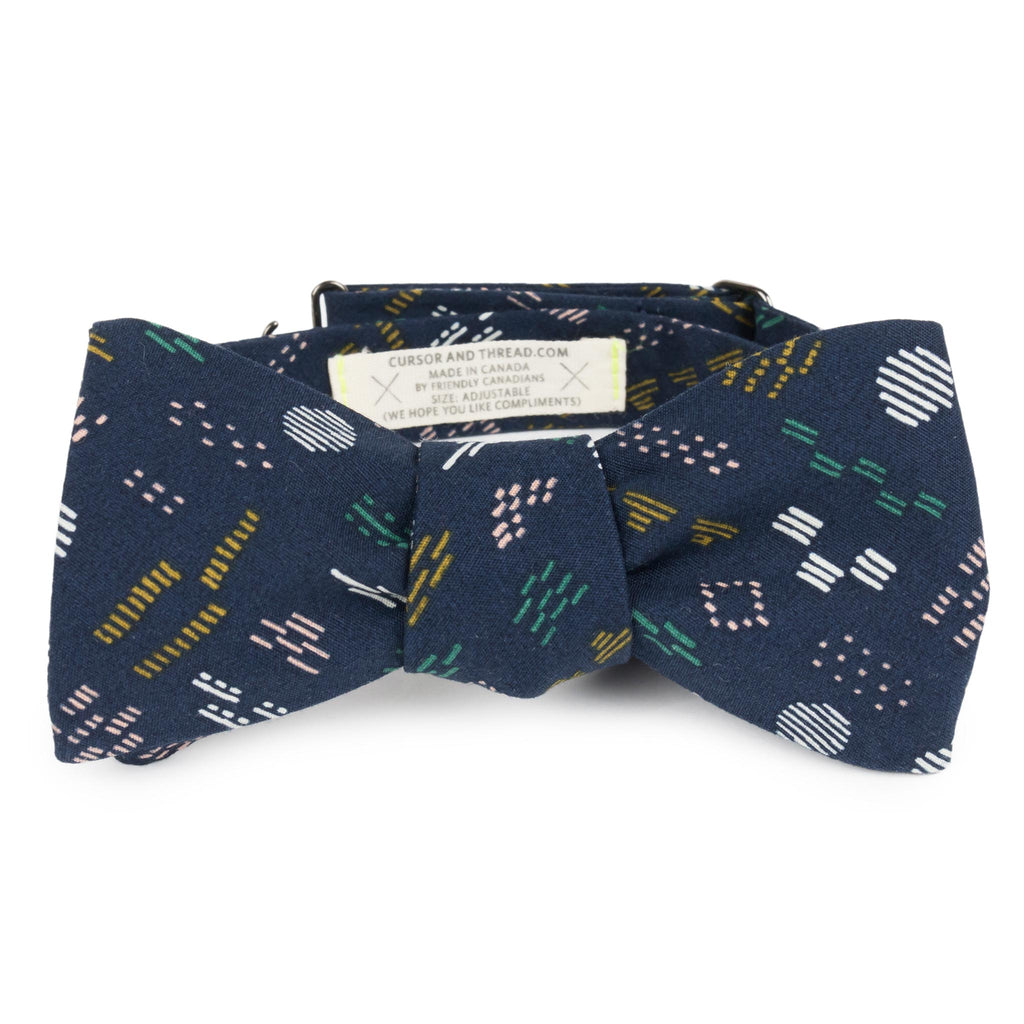 Aztek Organic Navy Cotton Bow Tie Made in Canada