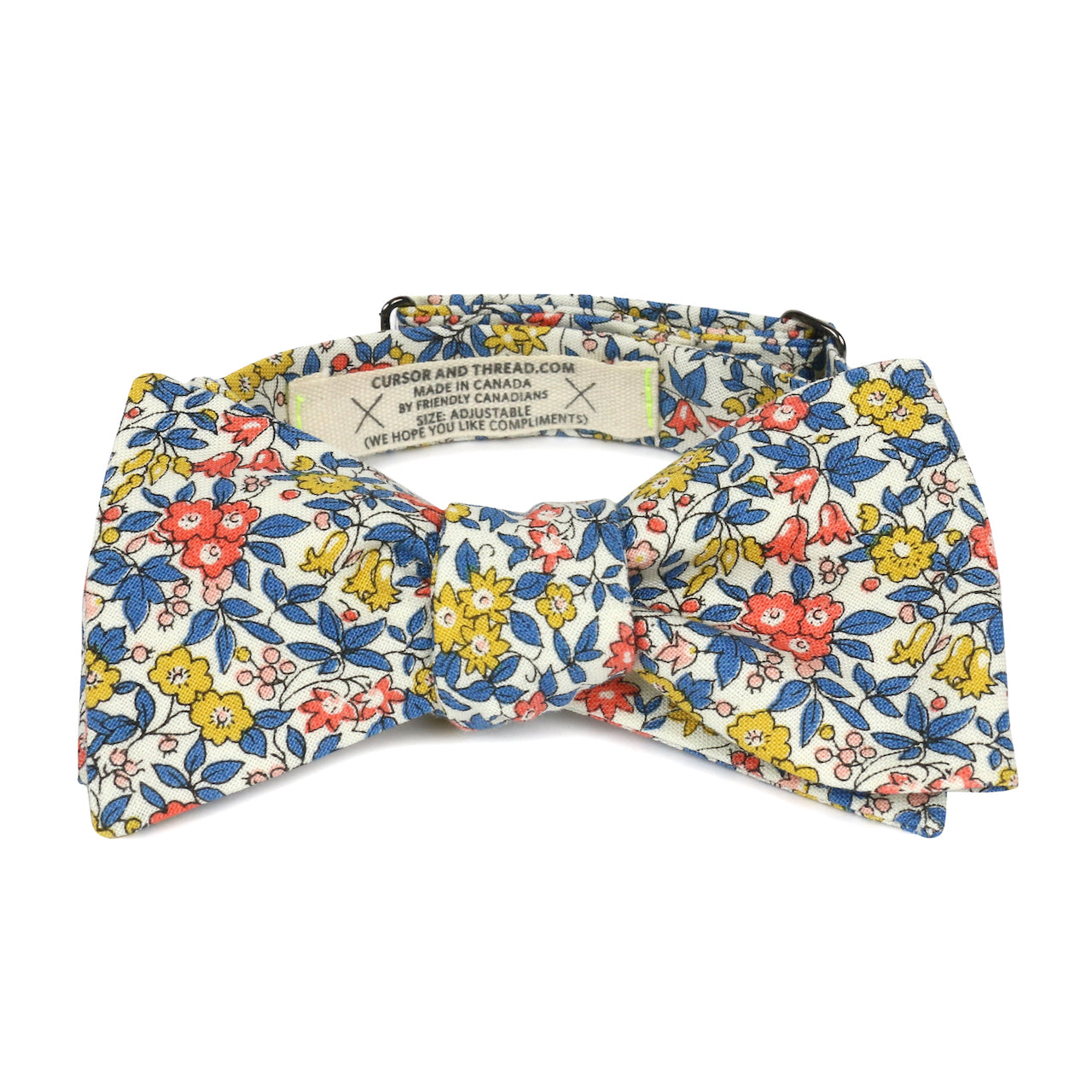 Chatham Floral Bow Tie in Liberty Cotton Made in Canada