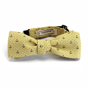 Cortez Anchor Bow Tie in Yellow