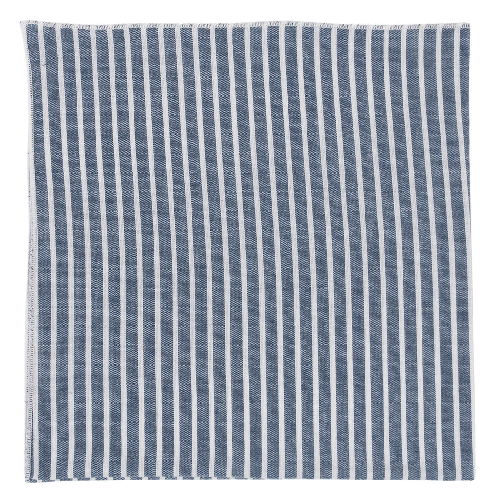 Blue and White Striped Bandana made in Canada