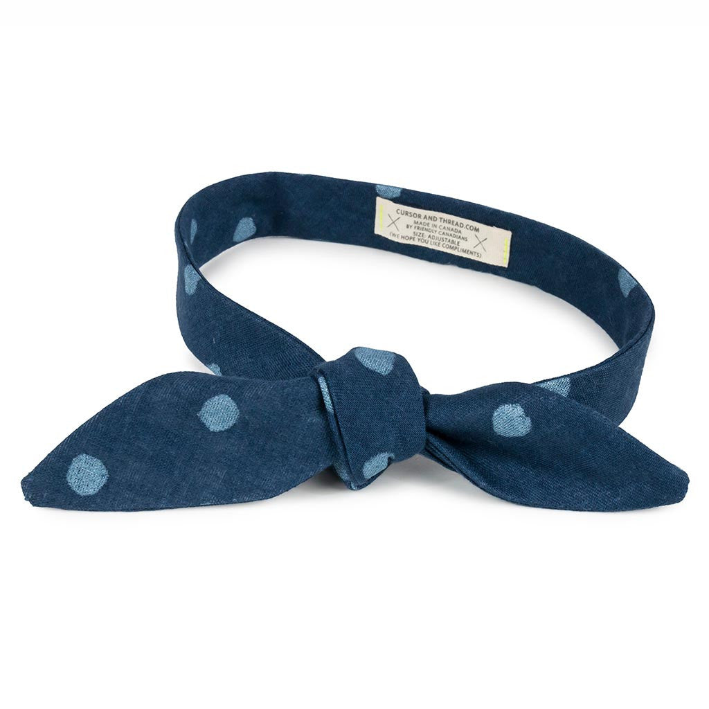 Glow Polka Dot French Knot Bow Tie