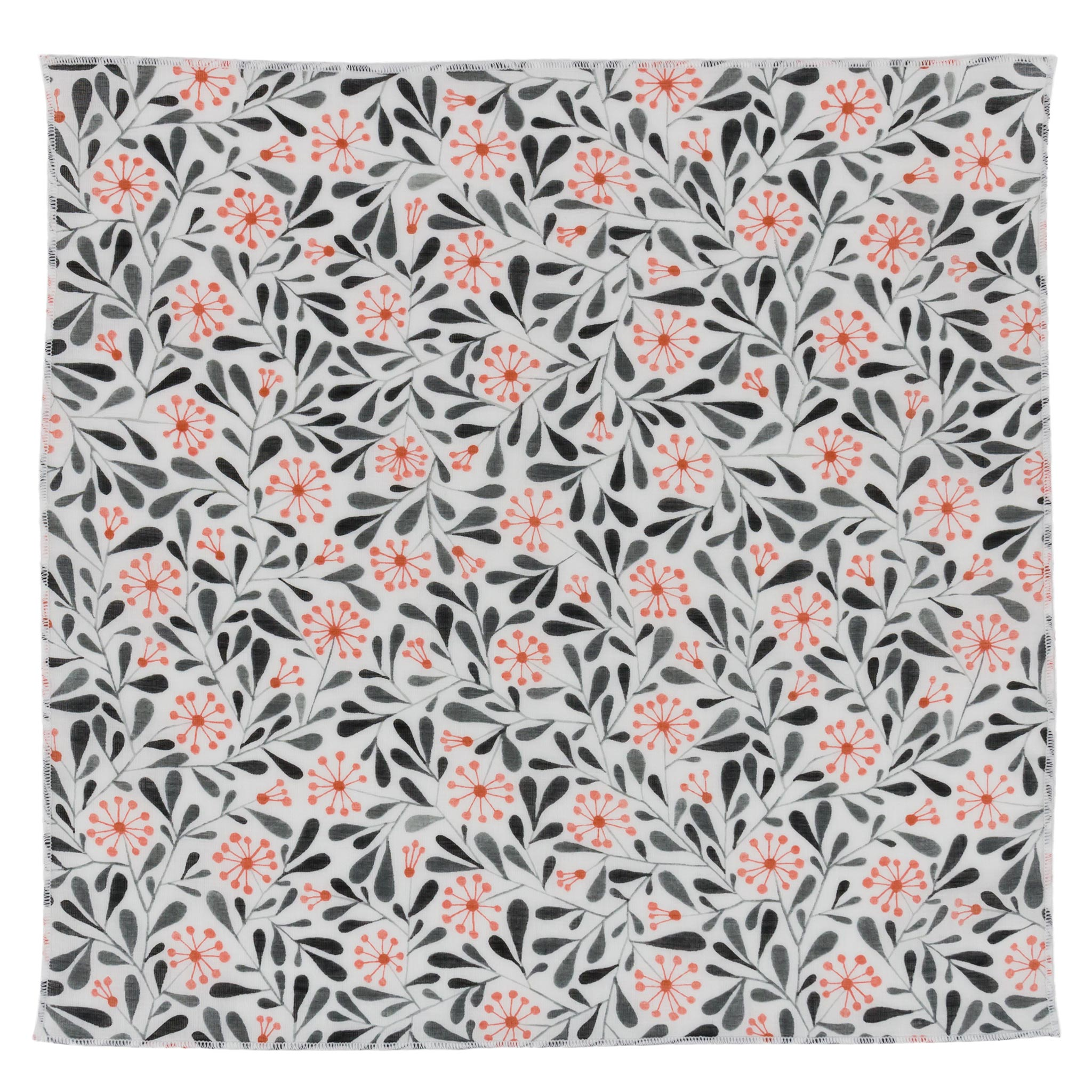 Haro floral organic cotton pocket square made in Canada