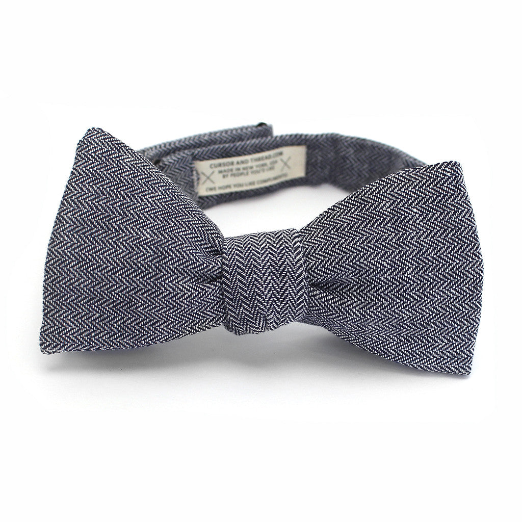 Harrison Herringbone Bow Tie