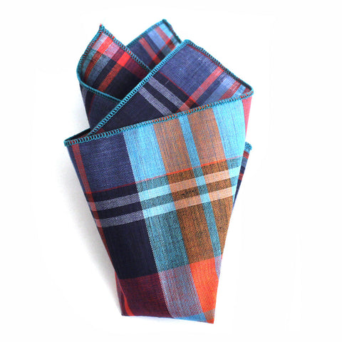 JDW Plaid Pocket Square