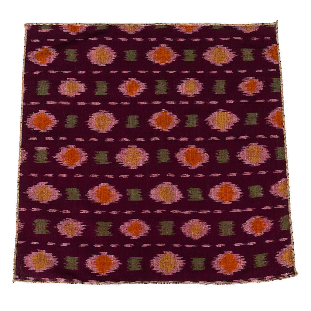 Kuta Handwoven Ikat Cotton Pocket Square Made in Canada