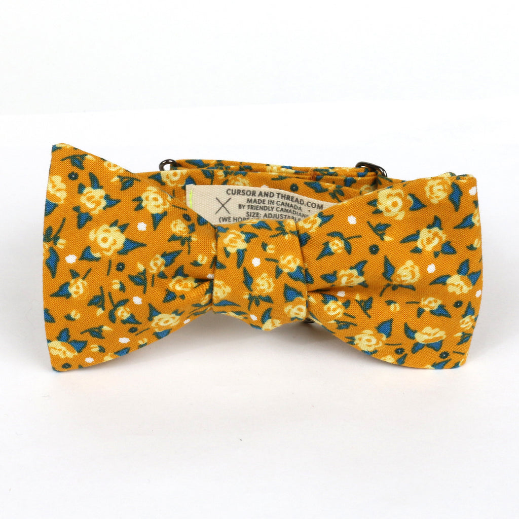 Maigold Yellow Rose Bow Tie Made in Canada