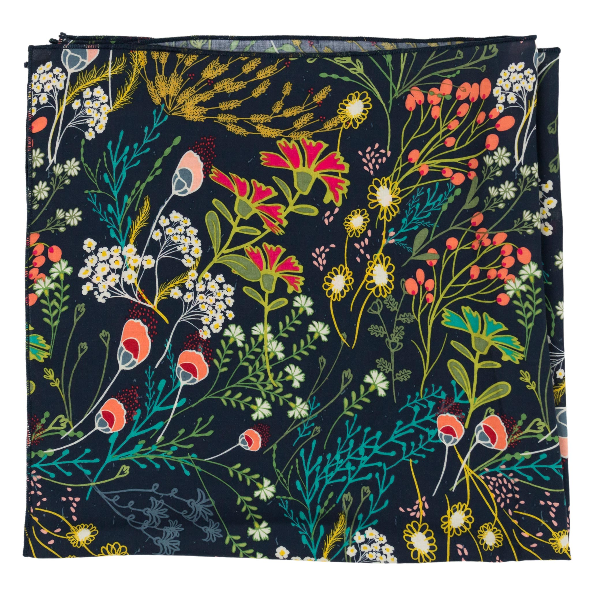 Meadow Navy Floral Bandana Made in Canada