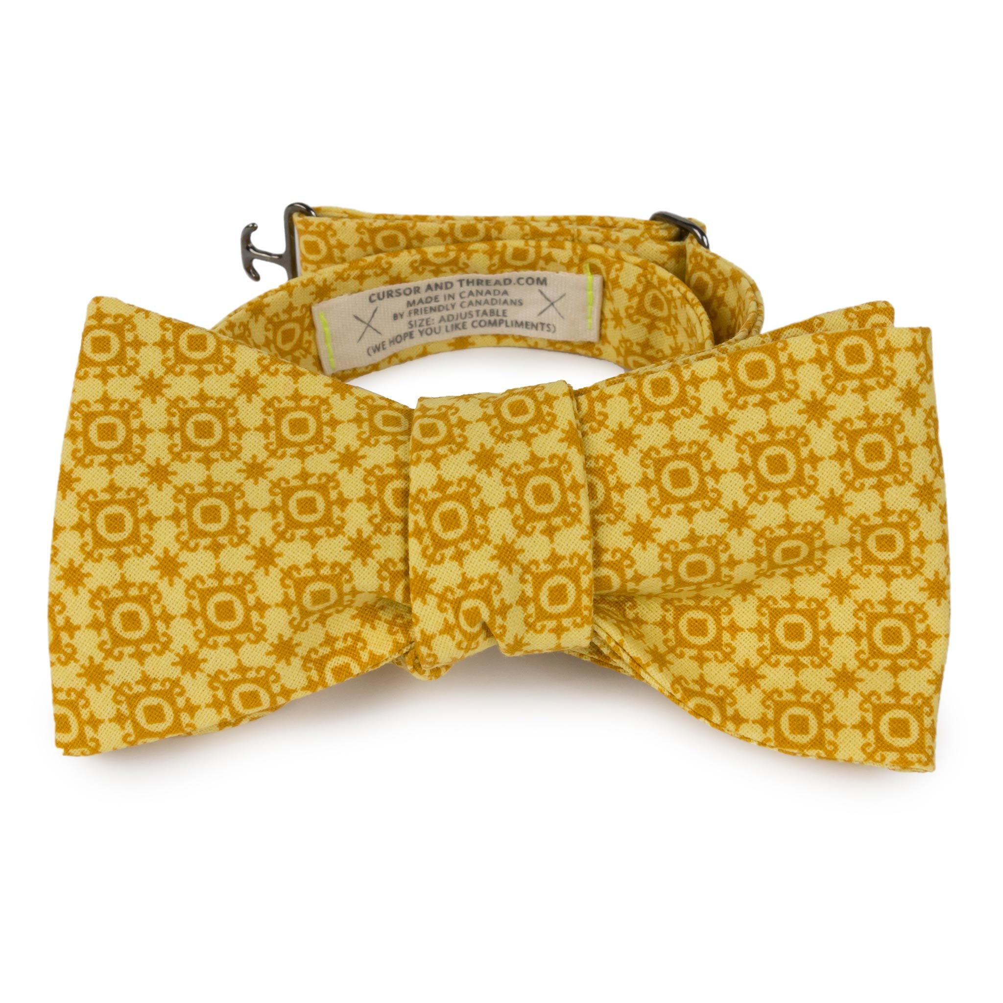 Gold Mosaic Bow Tie Made in Canada