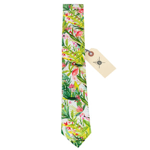 Flamingo Ernest Hemingway Necktie Made in Canada