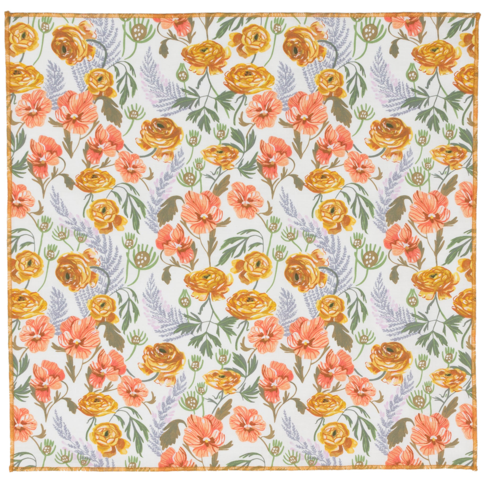 Ollie Rose Floral Cotton Pocket Square Made in Canada