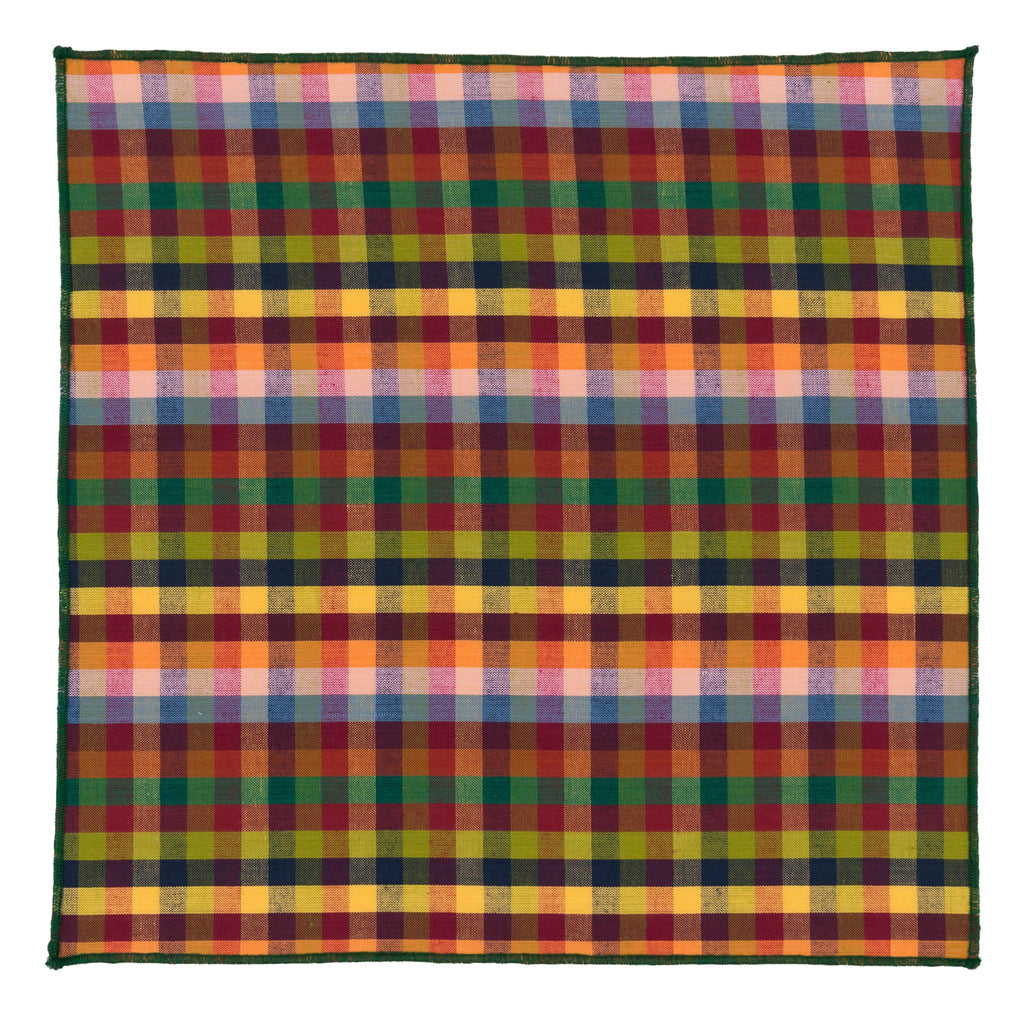 PCB Multi-Coloured Cotton Pocket Square Made in Canada