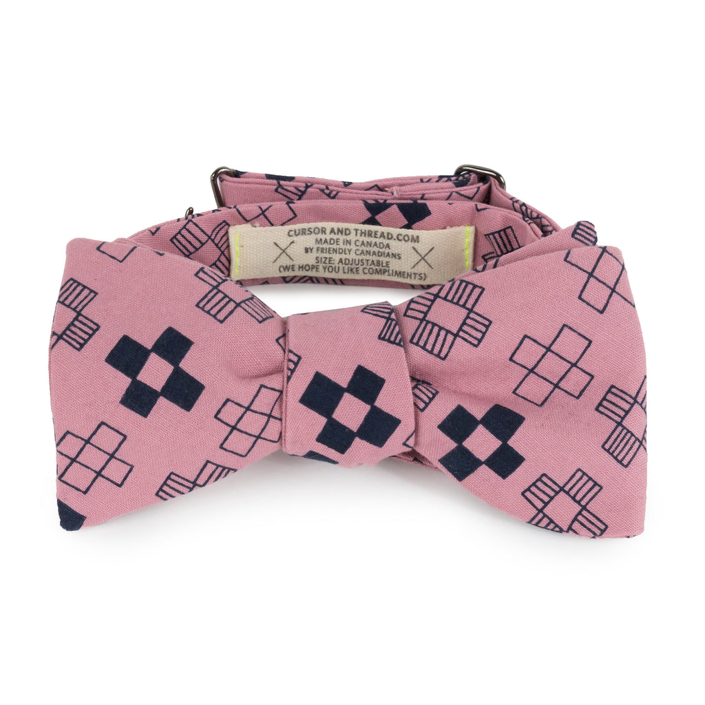 Patches Blueberry Cotton Bow Tie Made in Canada