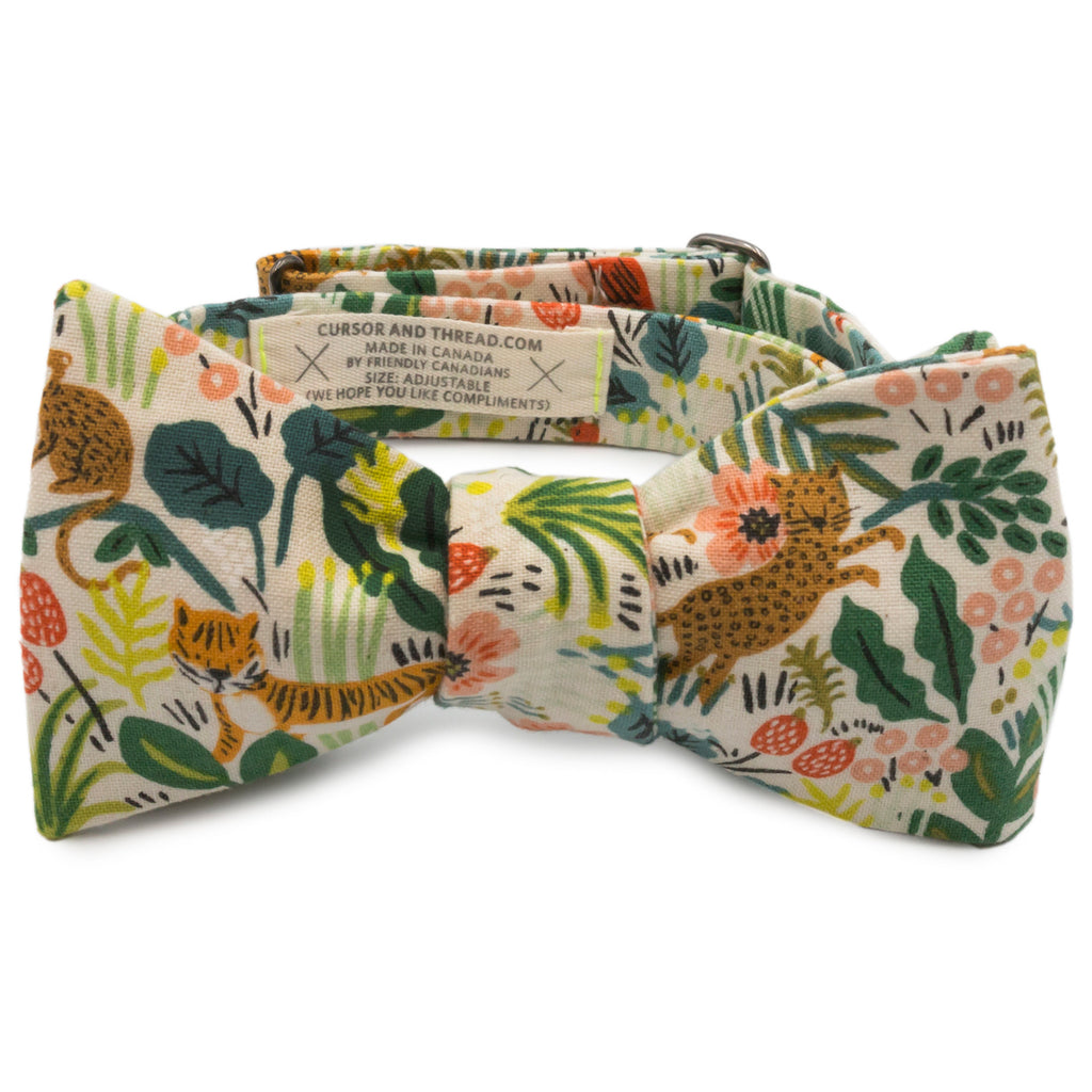 Selva Natural Jungle Japanese Cotton Bow Tie Made in Canada