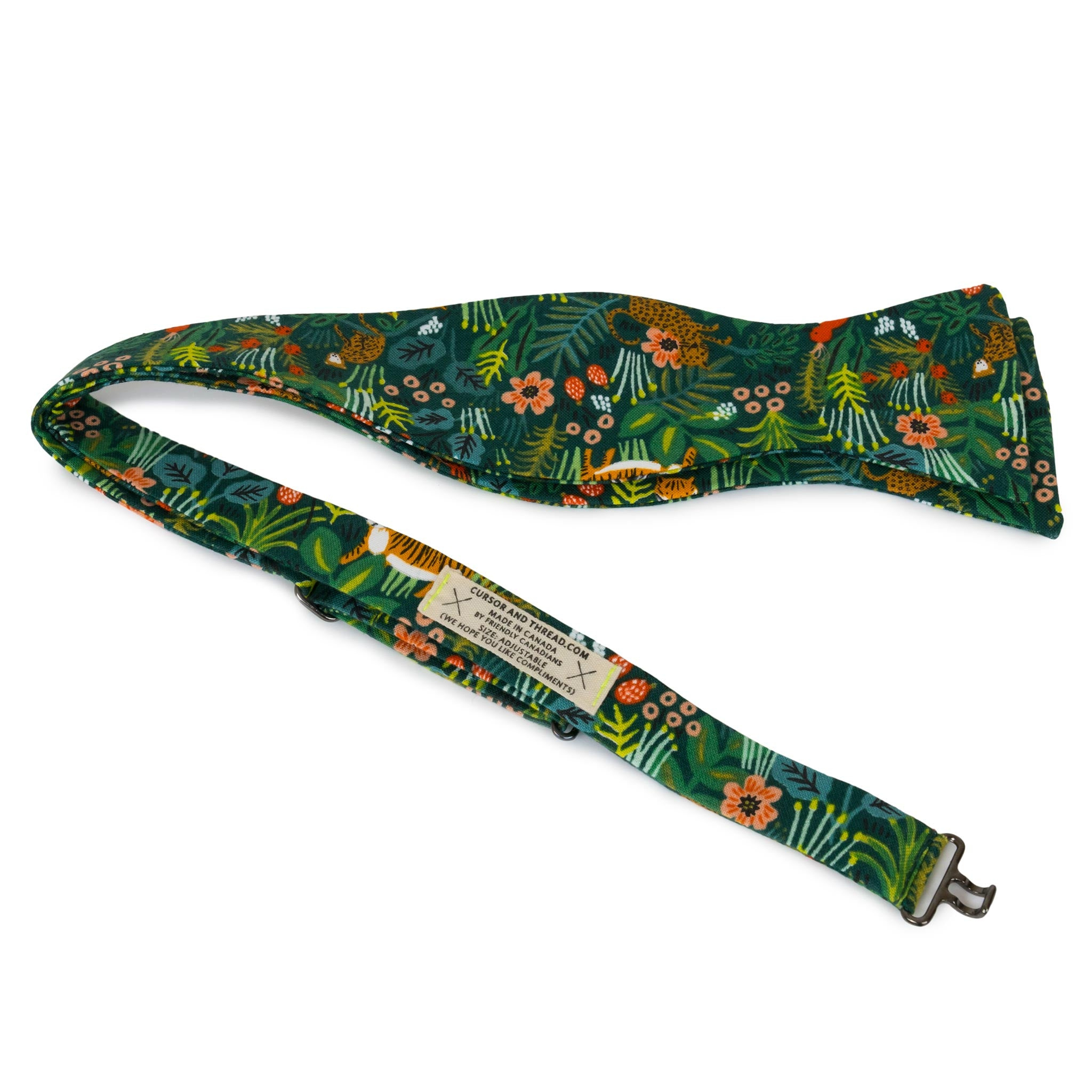 Jungle Selva rifle bow tie, made in Canada with Japanese Cotton.