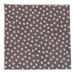 Studs & Dots Cotton Grey and Pink Bandana Made in Canada
