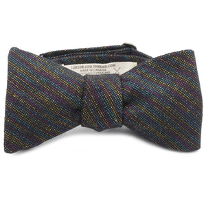 Metallic Cotton Linen Bow Tie Made in Canada