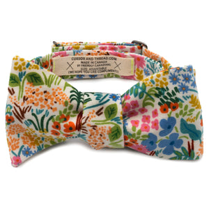 Waterton Floral Japanese Cotton Bow Tie Made in Canada