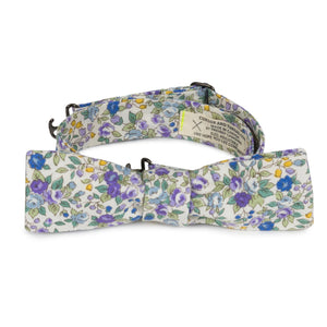 Japanese cotton floral bow tie made in Canada
