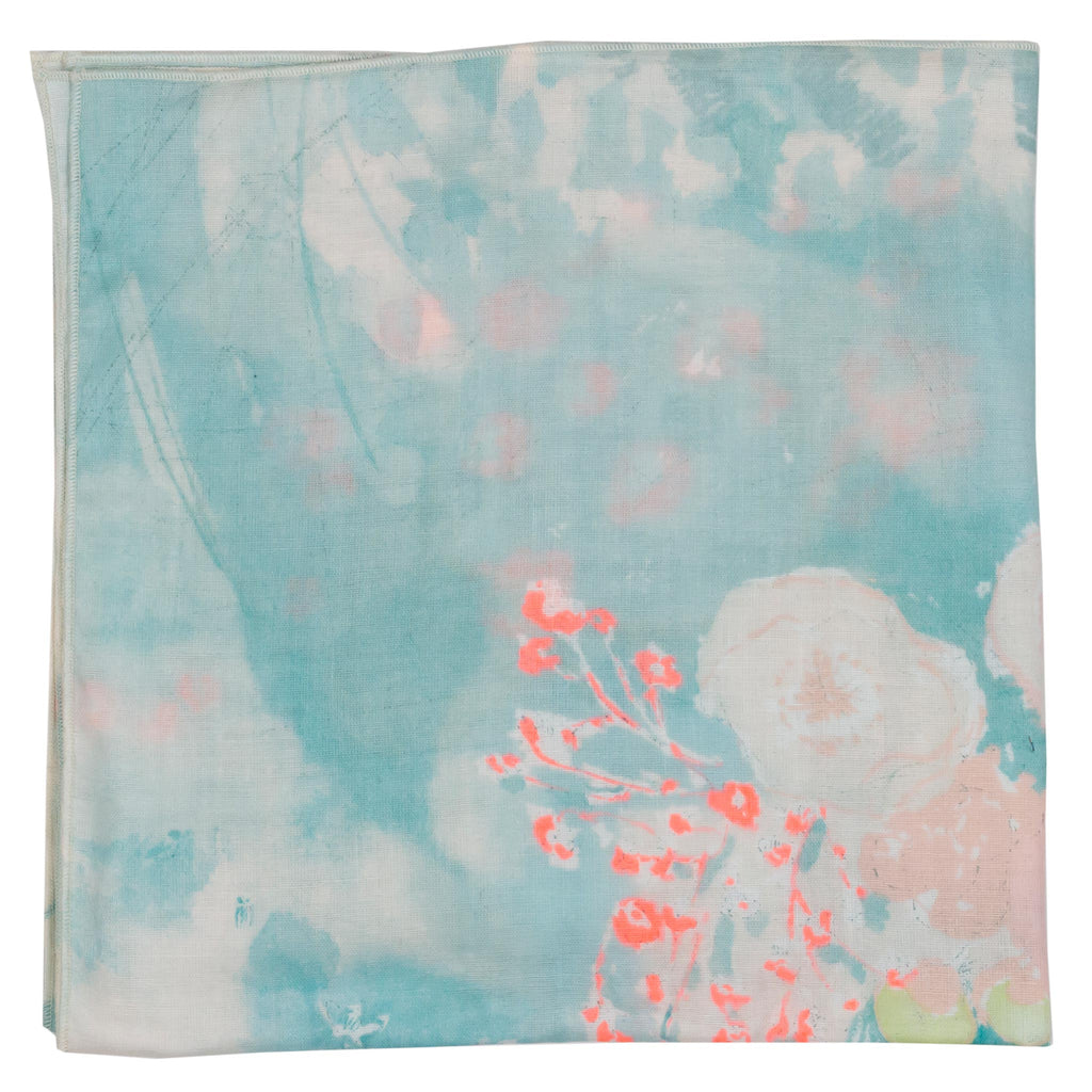 Japanese cotton blossom bandana made in Canada