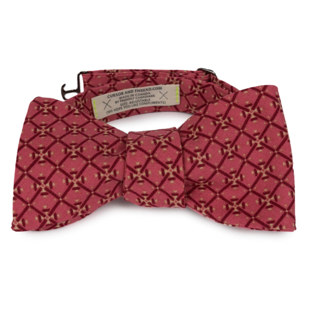 c. 1870 French Cotton Bow Tie Made in Canada by Cursor & Thread