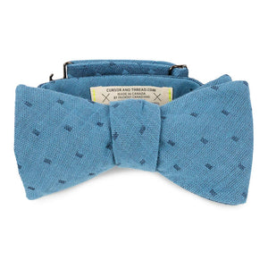 blue reversible bow tie