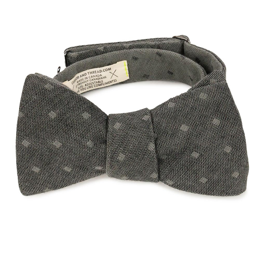 black reversible bow tie