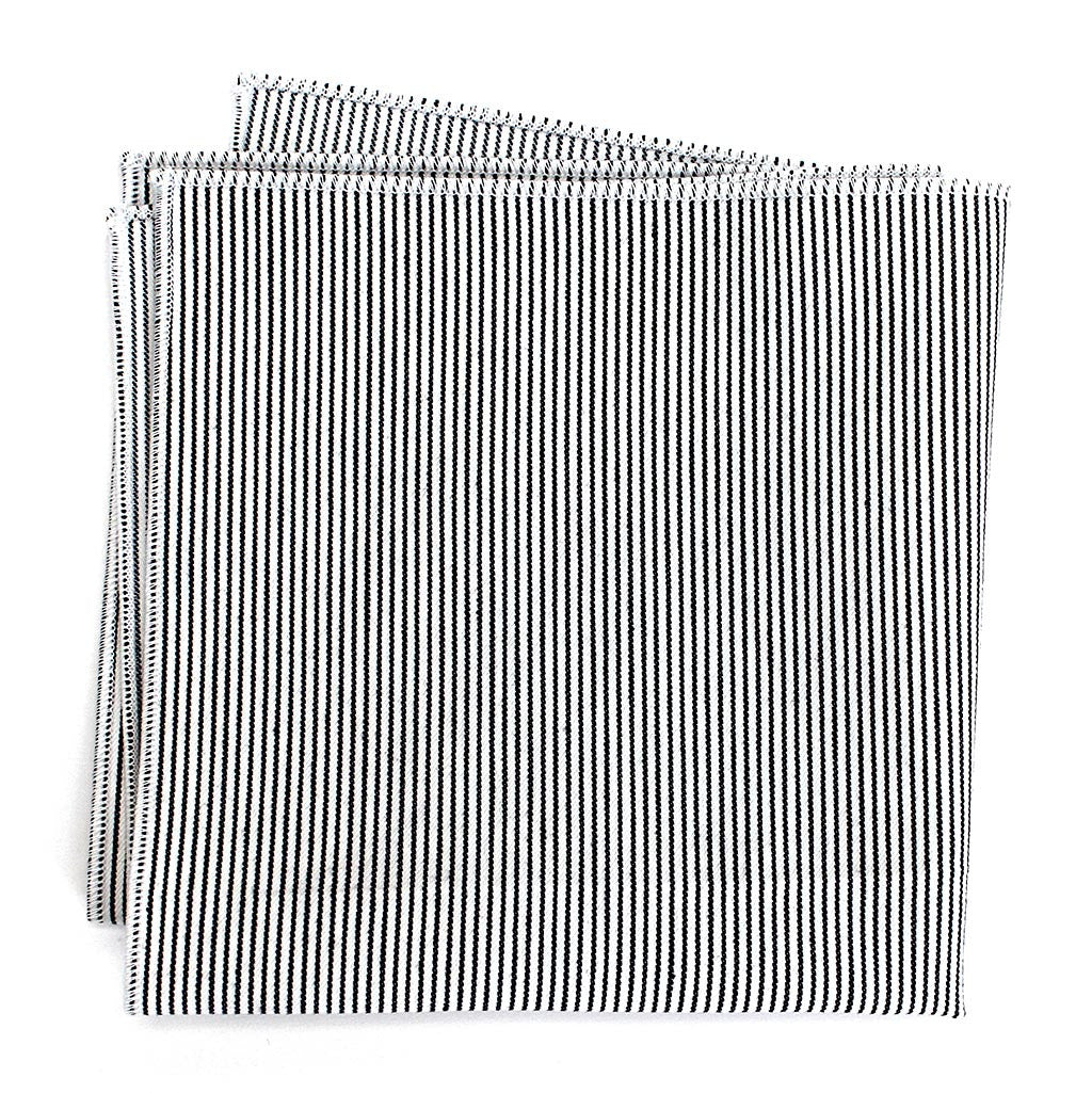 Engineer Striped Cotton Pocket Square