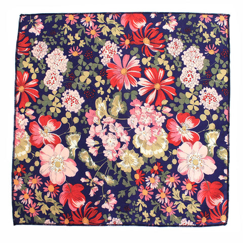 Grace Floral Japanese Cotton Pocket Square