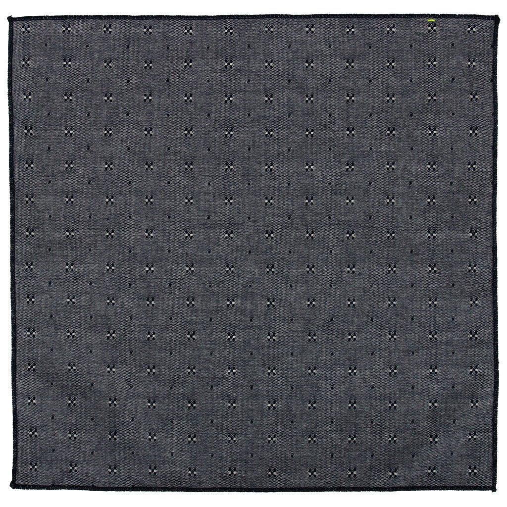 Grey woven pocket square