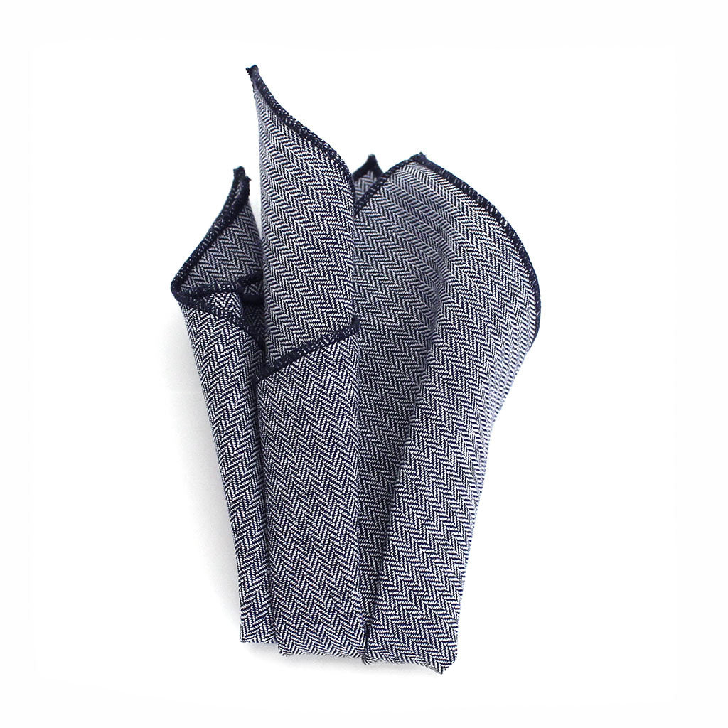 Harrison Herringbone Pocket Square